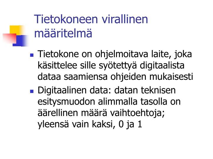 tietokoneen virallinen m ritelm n.