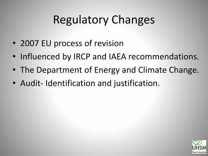 Regulatory Changes