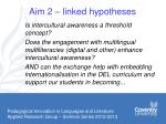 aim 2 linked hypotheses