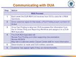 communicating with dua2