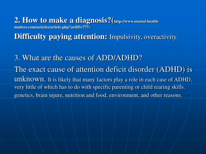 2. How to make a diagnosis?(