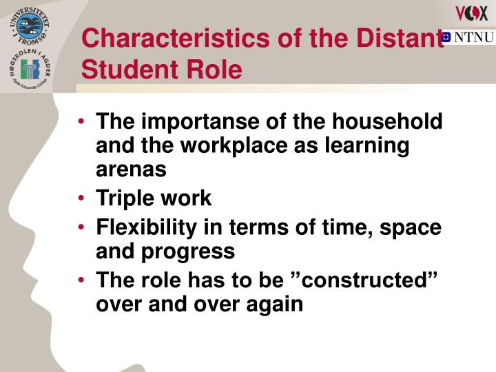 Characteristics of the Distant Student Role