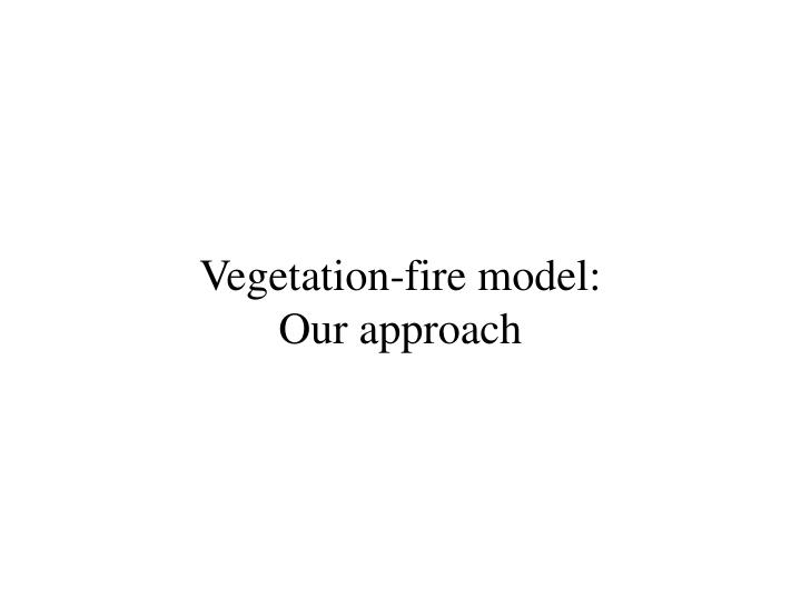 Vegetation fire model our approach