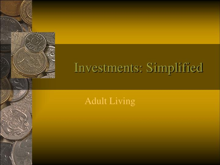 investments simplified n.