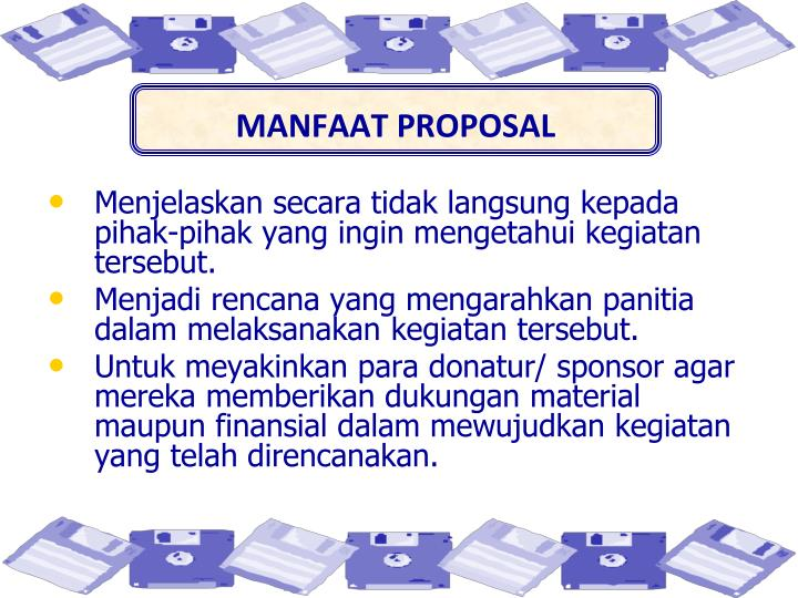MANFAAT PROPOSAL