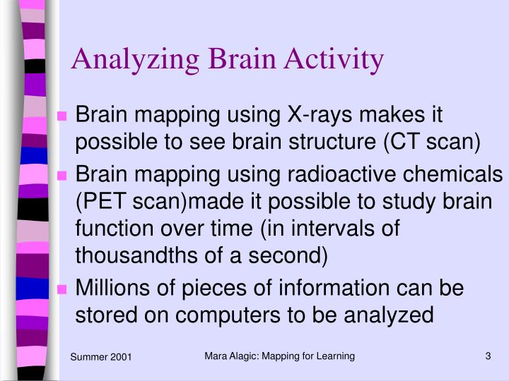 Analyzing brain activity