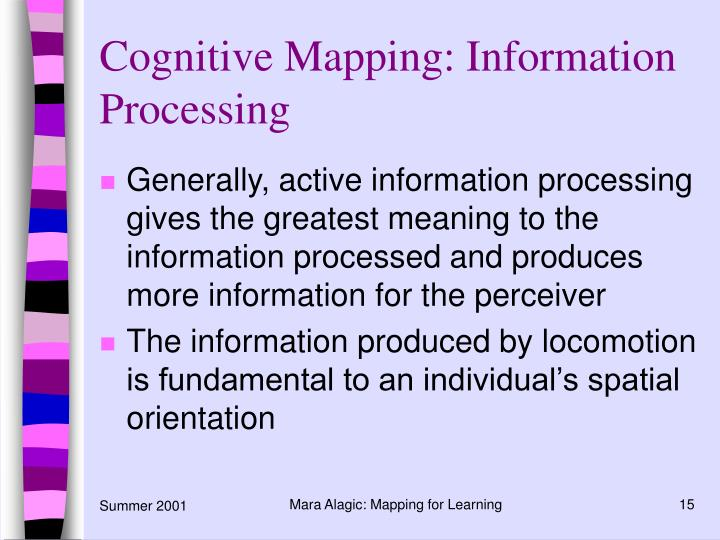 Cognitive Mapping: Information Processing
