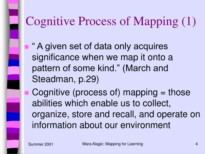 Cognitive Process of Mapping (1)