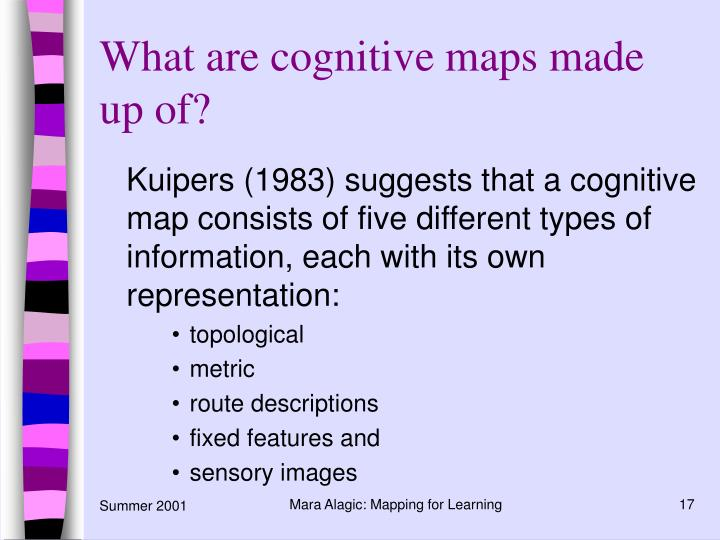 What are cognitive maps made up of?