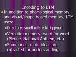 encoding to ltm
