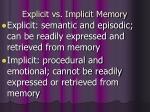 explicit vs implicit memory
