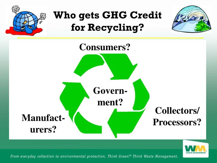 Who gets GHG Credit for Recycling?