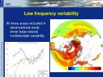 low frequency variability1