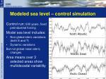 modeled sea level control simulation