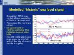 modelled historic sea level signal