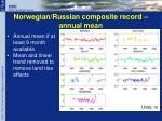 norwegian russian composite record annual mean