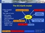 the ec earth model