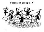 forms of groups 1