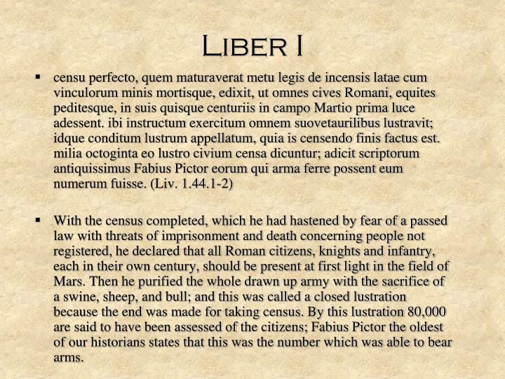 Liber I