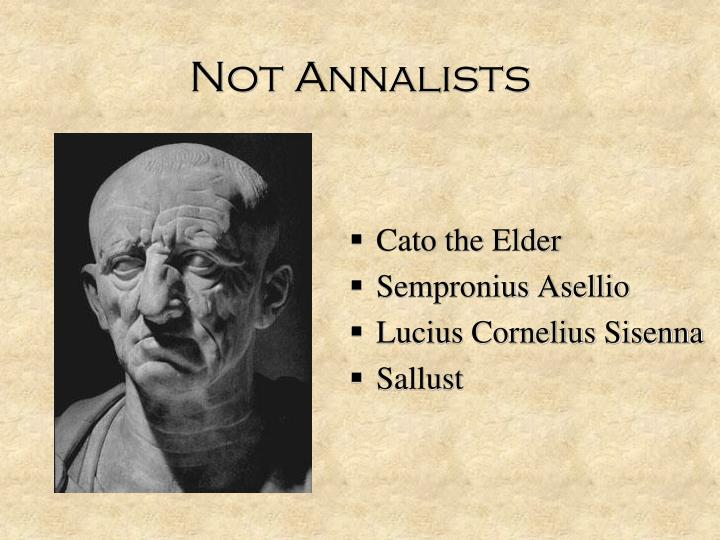 Not annalists