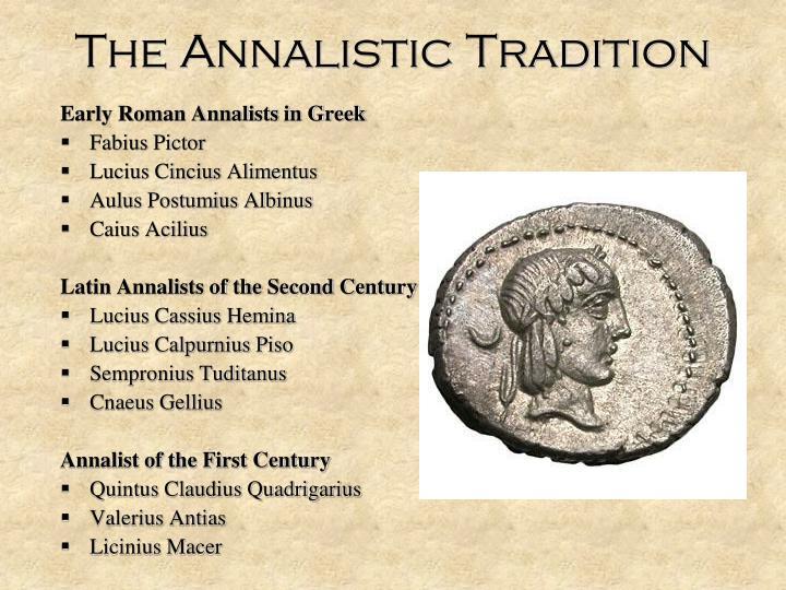 The annalistic tradition
