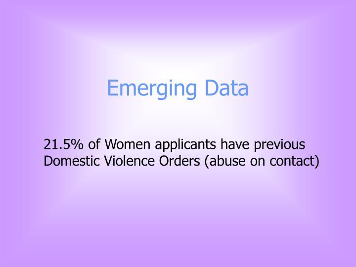Emerging Data