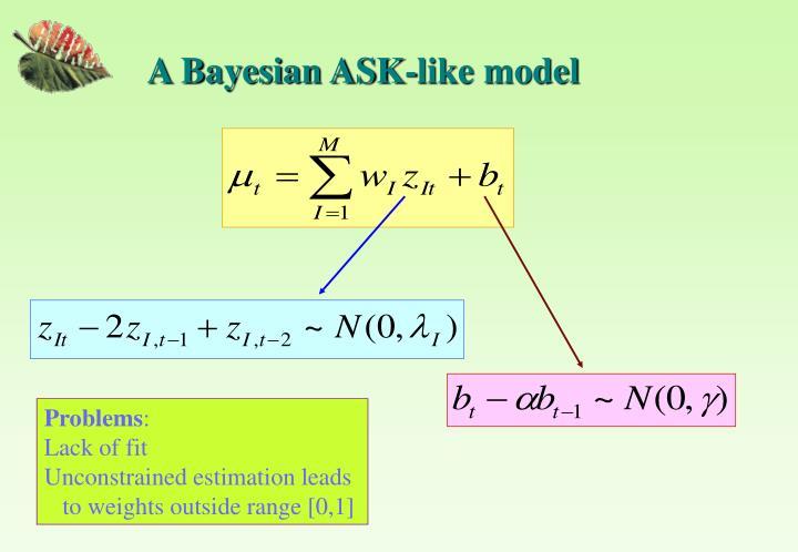 A Bayesian ASK-like model