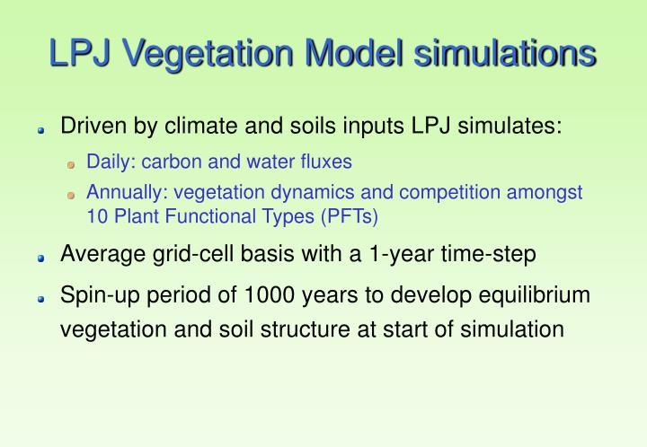LPJ Vegetation Model simulations