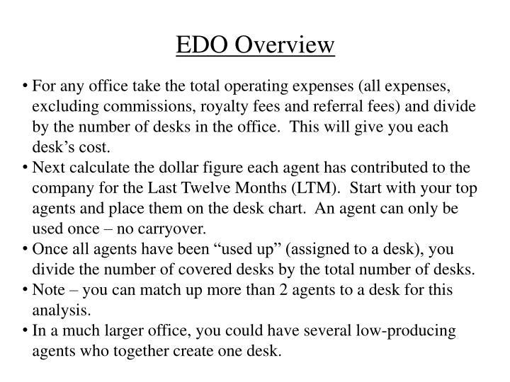 EDO Overview
