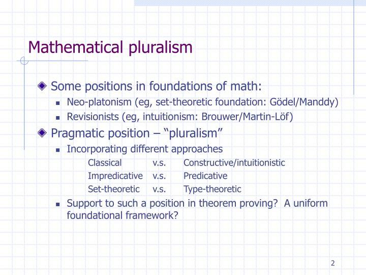 Mathematical pluralism