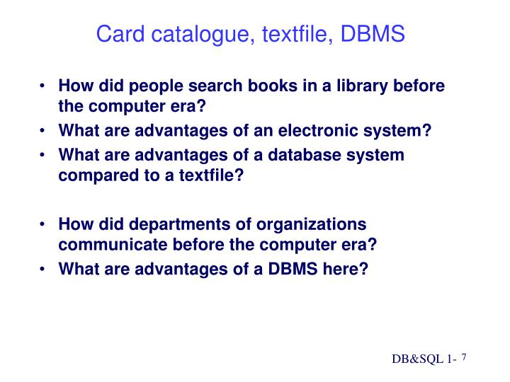 How did people search books in a library before the computer era?