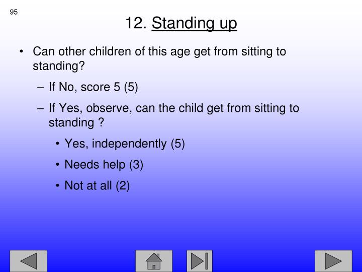 Can other children of this age get from sitting to standing?