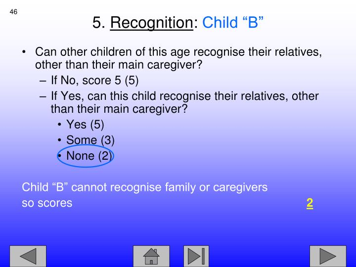 Can other children of this age recognise their relatives, other than their main caregiver?