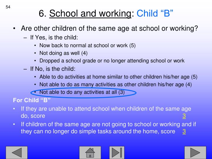 Are other children of the same age at school or working?