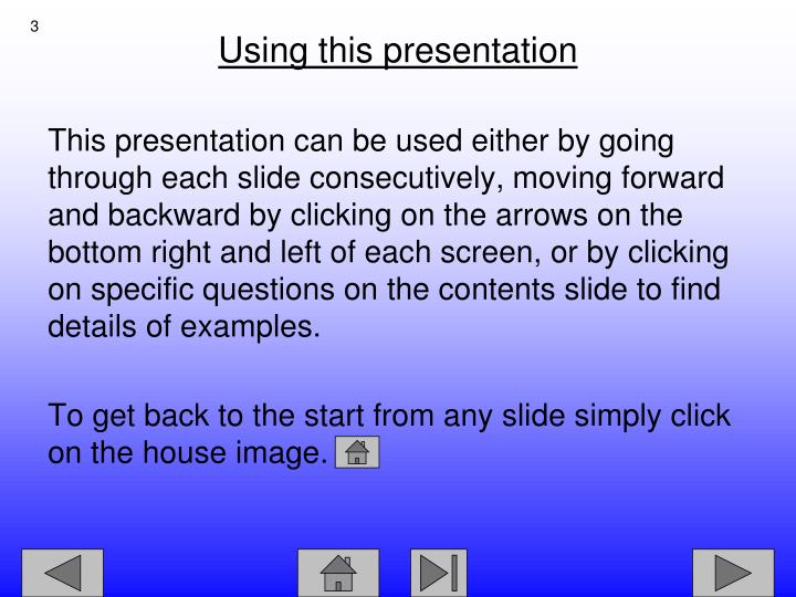 Using this presentation