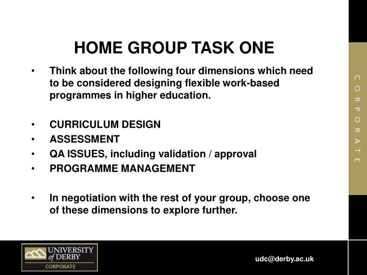 HOME GROUP TASK ONE
