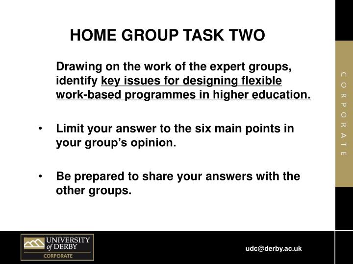 HOME GROUP TASK TWO