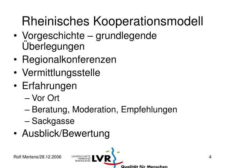 Rheinisches Kooperationsmodell