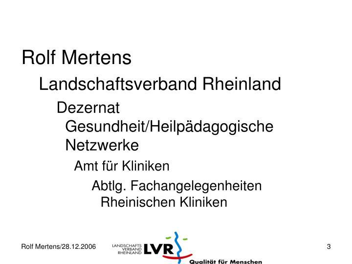 Rolf Mertens