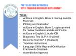 part iii future activities wp 3 training materilas development3