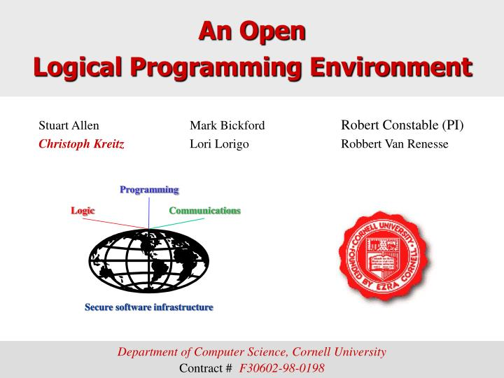 An open logical programming environment