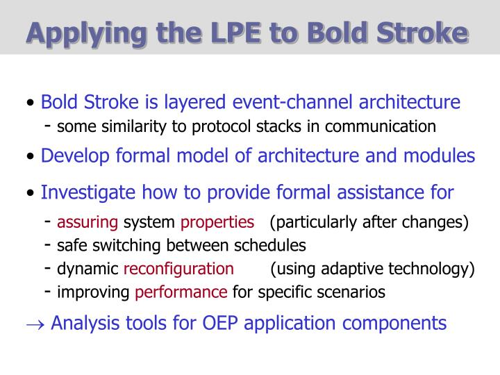 Applying the LPE to Bold Stroke