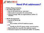 need ipv6 addresses1