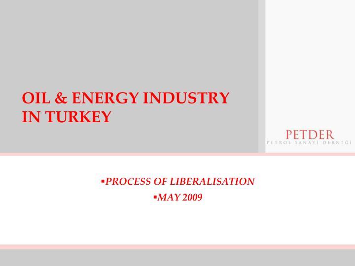 oil energy industry in turkey n.