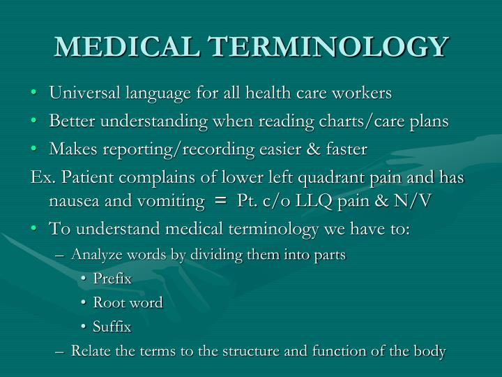 Medical terminology2