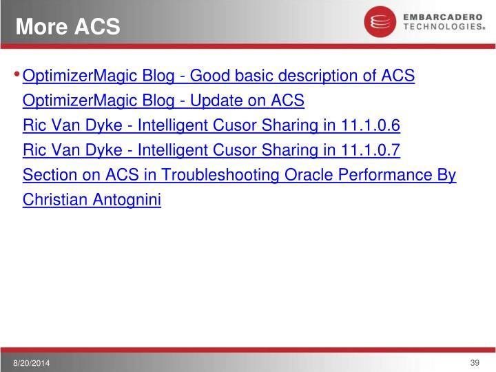 More ACS