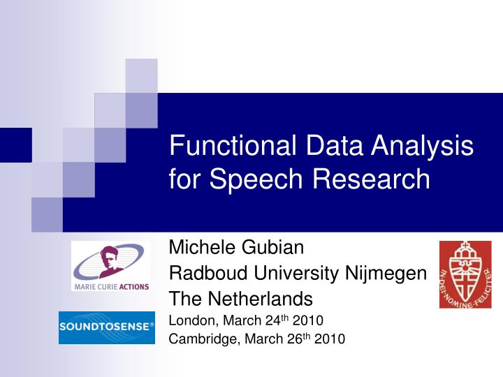 functional data analysis for speech research n.