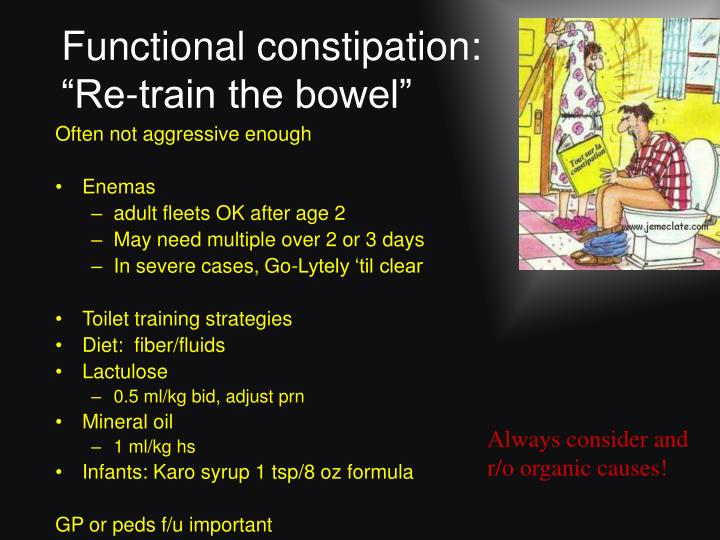 Functional constipation: