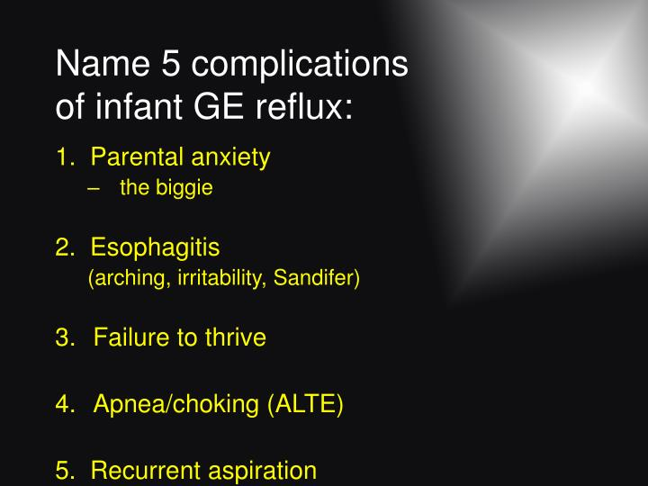 Name 5 complications