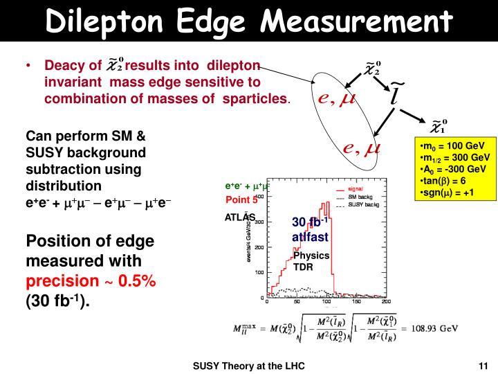 Dilepton Edge Measurement